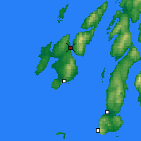 Nearby Forecast Locations - Port Askaig - Kaart