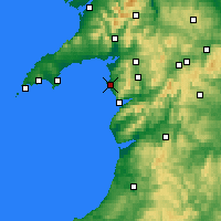Nearby Forecast Locations - Harlech - Kaart