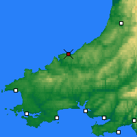 Nearby Forecast Locations - Cardigan - Kaart