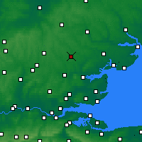 Nearby Forecast Locations - Braintree - Kaart