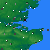 Nearby Forecast Locations - Shoeburyness - Kaart