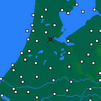 Nearby Forecast Locations - Amsterdam - Kaart