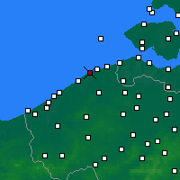 Nearby Forecast Locations - Blankenberge - Kaart