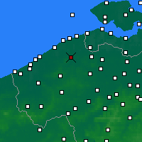 Nearby Forecast Locations - Brugge - Kaart