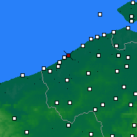 Nearby Forecast Locations - Oostende - Kaart