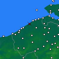 Nearby Forecast Locations - De Haan - Kaart