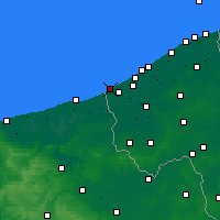 Nearby Forecast Locations - De Panne - Kaart