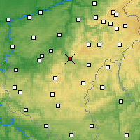 Nearby Forecast Locations - La Roche-en-Ardenne - Kaart