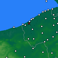 Nearby Forecast Locations - Nieuwpoort - Kaart