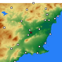 Nearby Forecast Locations - Murcia - Kaart