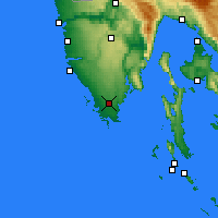 Nearby Forecast Locations - Pula - Kaart