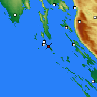 Nearby Forecast Locations - Mali Lošinj - Kaart