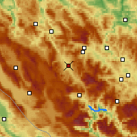 Nearby Forecast Locations - Bugojno - Kaart
