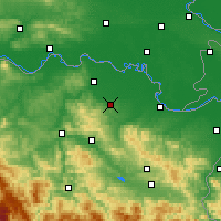 Nearby Forecast Locations - Gradačac - Kaart