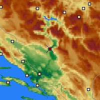 Nearby Forecast Locations - Mostar - Kaart