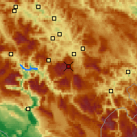 Nearby Forecast Locations - Bjelašnica - Kaart