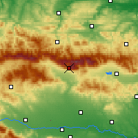 Nearby Forecast Locations - Botev Peak - Kaart