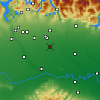 Nearby Forecast Locations - Milaan - Kaart