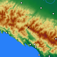 Nearby Forecast Locations - Passo D.Cisa - Kaart