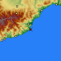 Nearby Forecast Locations - Alassio - Kaart