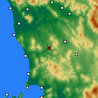 Nearby Forecast Locations - Volterra - Kaart
