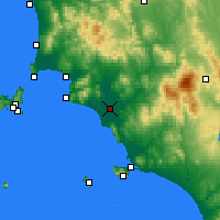 Nearby Forecast Locations - Grosseto - Kaart