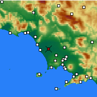 Nearby Forecast Locations - Grazzanise - Kaart