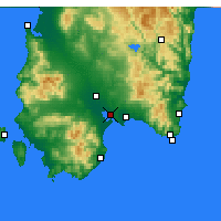 Nearby Forecast Locations - Cagliari - Kaart