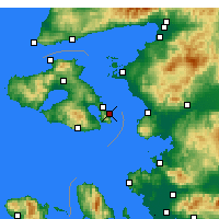 Nearby Forecast Locations - Lesbos - Kaart