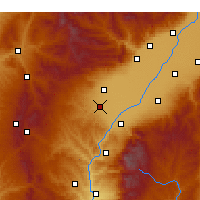 Nearby Forecast Locations - Xiaoyi - Kaart