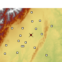 Nearby Forecast Locations - Xindu - Kaart