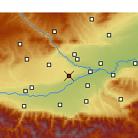 Nearby Forecast Locations - Xianyang - Kaart