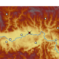 Nearby Forecast Locations - Yang Xian - Kaart