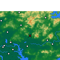Nearby Forecast Locations - Zengcheng - Kaart