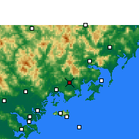 Nearby Forecast Locations - Zhao'an - Kaart