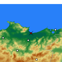 Nearby Forecast Locations - Annaba - Kaart