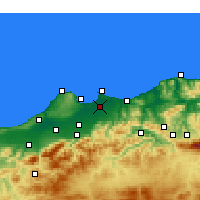 Nearby Forecast Locations - Algiers - Kaart