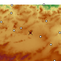 Nearby Forecast Locations - Oum el-Bouaghi - Kaart