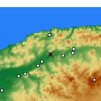 Nearby Forecast Locations - Chlef - Kaart