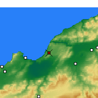 Nearby Forecast Locations - Mostaganem - Kaart