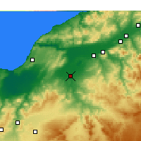 Nearby Forecast Locations - Relizane - Kaart