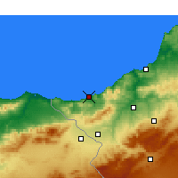 Nearby Forecast Locations - Ghazaouet - Kaart
