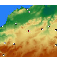 Nearby Forecast Locations - Sidi-bel-Abbès - Kaart