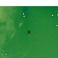 Nearby Forecast Locations - Touggourt - Kaart