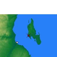 Nearby Forecast Locations - Zanzibar - Kaart