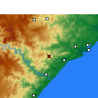 Nearby Forecast Locations - Eshowe - Kaart