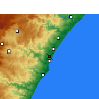 Nearby Forecast Locations - Mount Edgecombe - Kaart