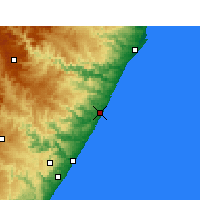Nearby Forecast Locations - Sezela - Kaart