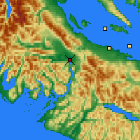 Nearby Forecast Locations - Port Alberni - Kaart