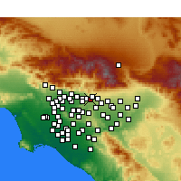 Nearby Forecast Locations - La Verne - Kaart